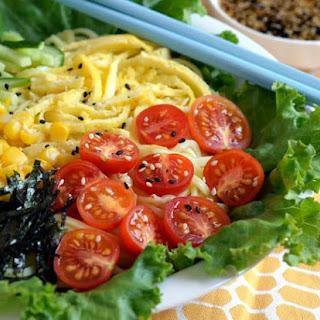 Japanese Cold Noodle Salad (Hiyashi Chuka).