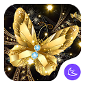 Shine Golden Fantastic Butterfly-APUS Launcher icon