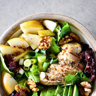 Fall Chicken Avocado Pear Salad.