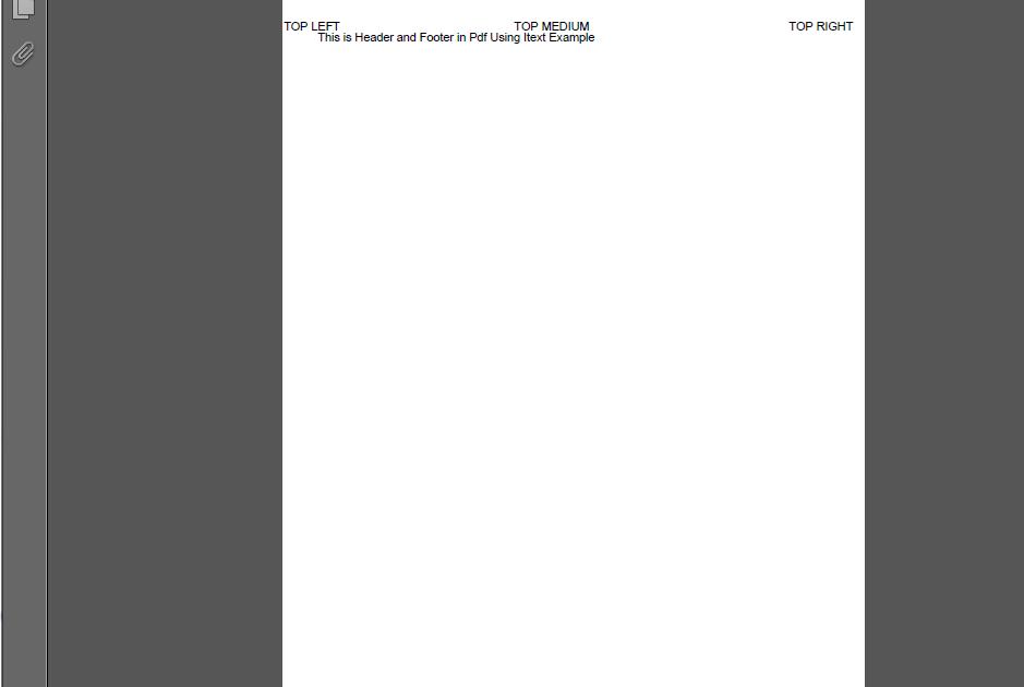 JavaMadeSoEasy com (JMSE): How To Set Header and Footer in pdf in