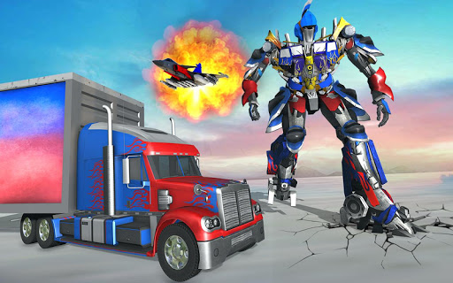 US Police Robot Transform Truck android2mod screenshots 5