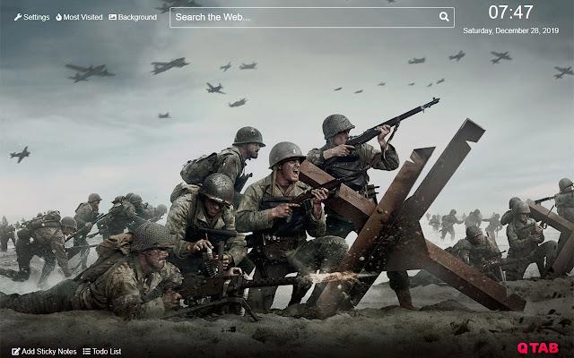Сal of duty WWII Wallpaper for New Tab