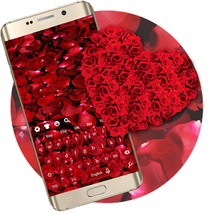 Red Rose Petal Keyboard for PC