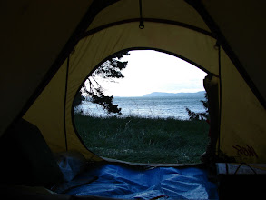 Photo: View from my tent at James Bay.