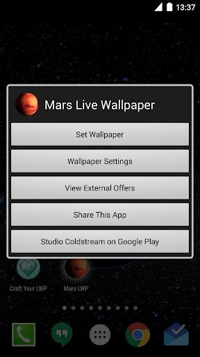 Mars Live Wallpaper screenshot 3