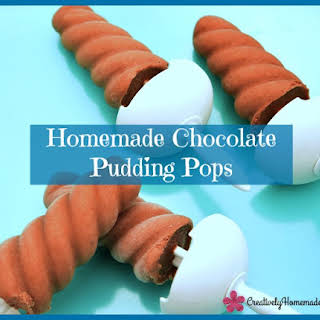 Chocolate Pudding Popsicle.