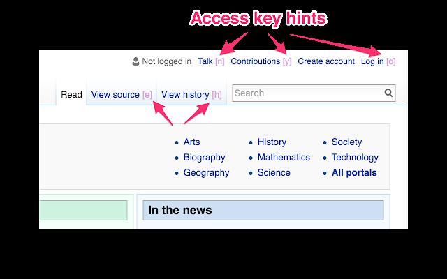 Display Access Keys