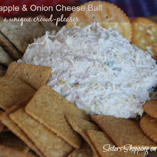 Pineapple and Onion Cheese Ball.
