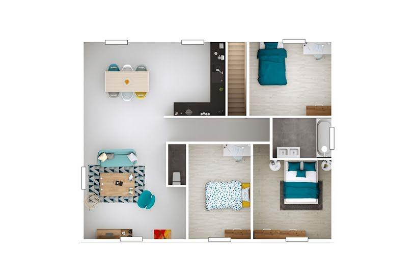 Vente Terrain + Maison - Terrain : 660m² - Maison : 88m² à Polliat (01310)