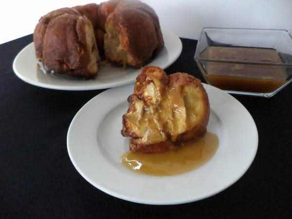 Pumpkin Gorilla Bread With Soco Toffee Sauce