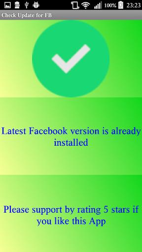 Update Check facebook