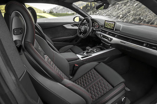 The interior gets the full RS treatment including sports seats.    Picture: AUDI