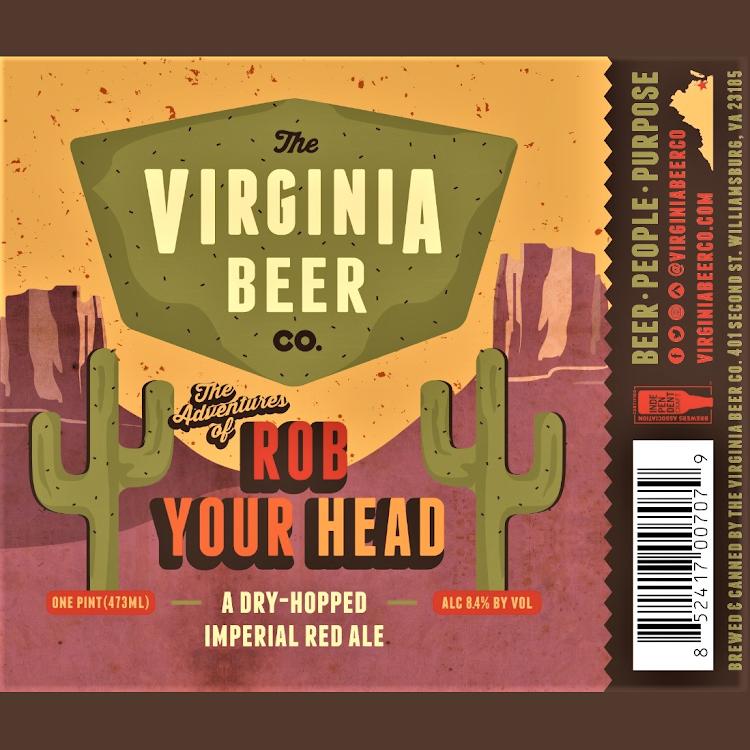 Logo of Virginia Beer Co. Rob Your Head