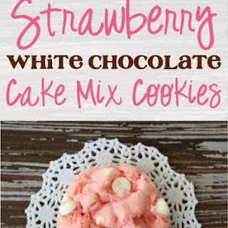 Strawberry White Chocolate Cake Mix Cookies Recipe!