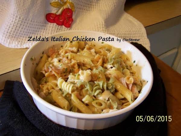 I Made Zelda's Recipe And Say It's Blue Ribbon Worthy........it Was Quick To Make, Easy To Make And Delicious When Eaten♥ (i Used The Try Colored Pasta And Some Penne)......photo By Cinstraw