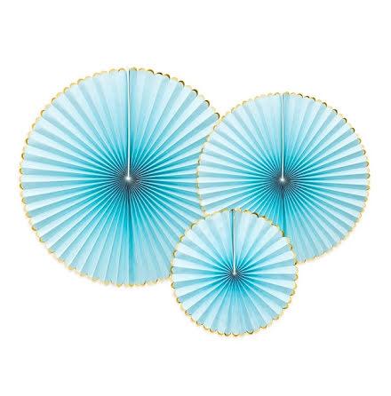 Dekorationsrosetter - Yummy ljusblå