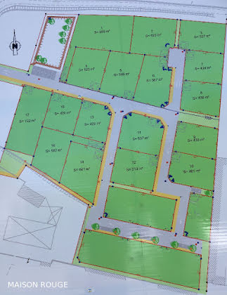 Vente terrain 438 m2