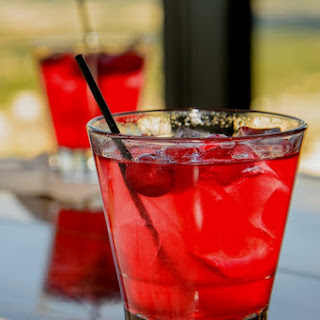 Cherry Bourbon Smash.