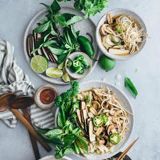 Vegetarian Pho Noodle Soup.