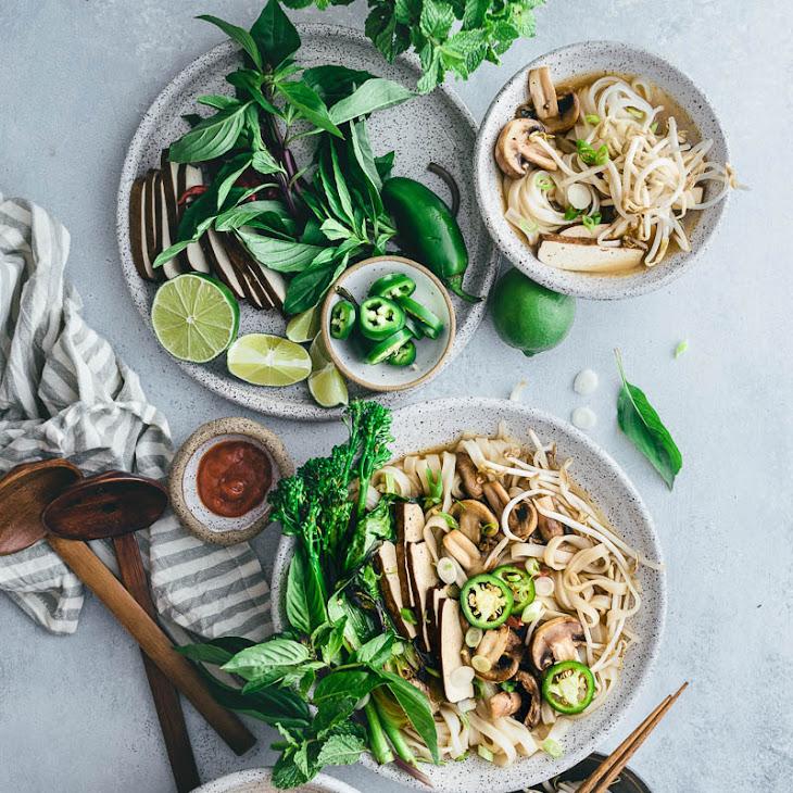 Vegetarian Pho Noodle Soup Recipe