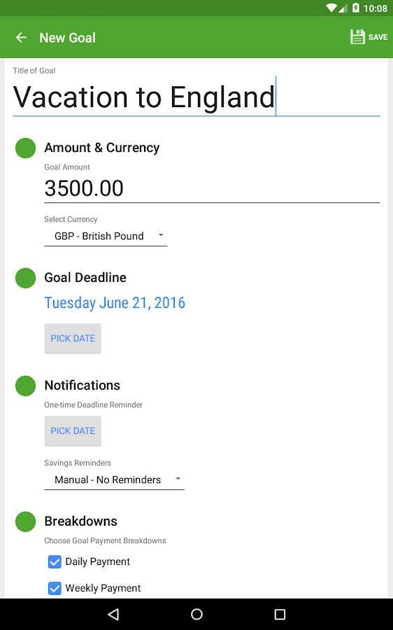 Saving Made Simple - Donate- screenshot