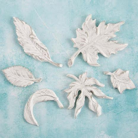 Prima Shabby Chic Treasures Resin Embellishments 6/Pkg - Leaves