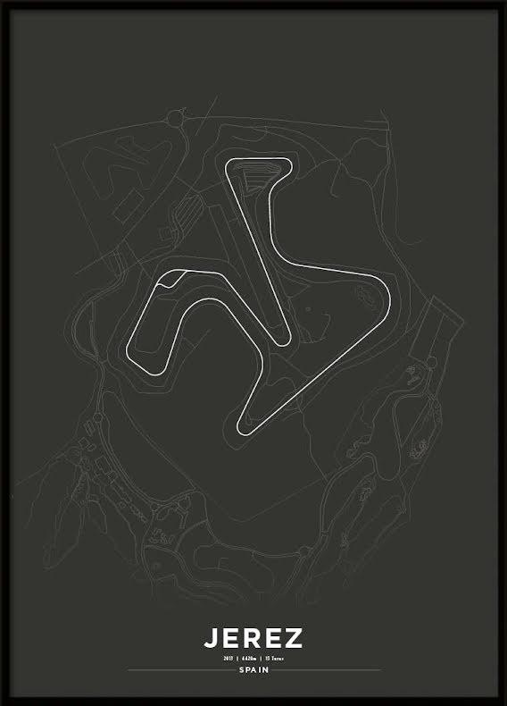 Poster, Circuito de Jerez Black
