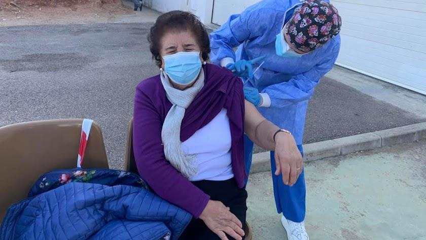 Vacunación en Sorbas.