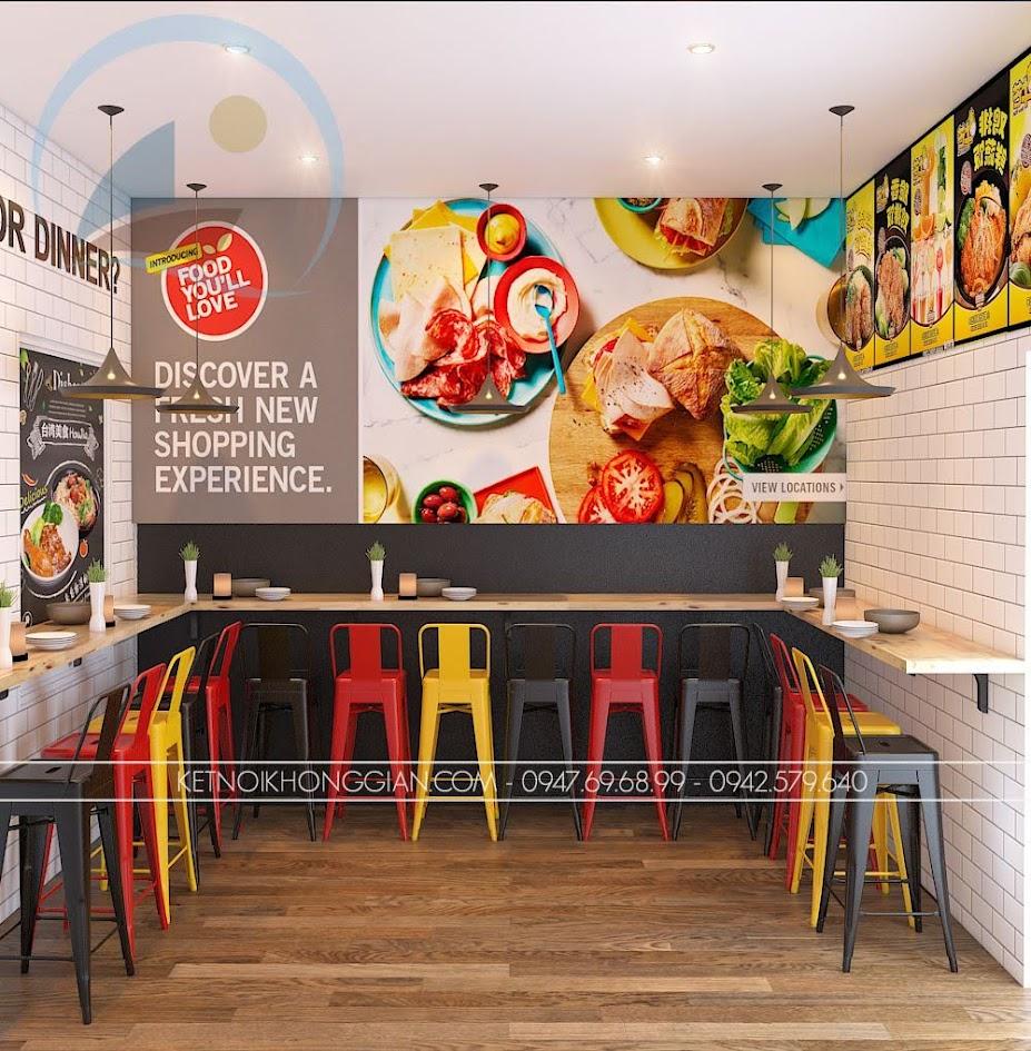 thiết kế cửa hàng gà rán đài loan 12
