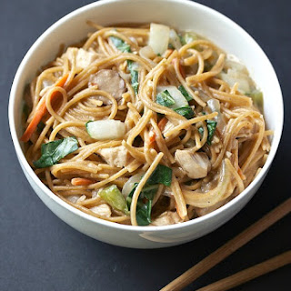 Healthy One Pot Asian Pasta.