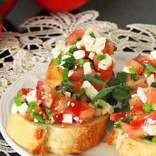 Cilantro Feta Cheese Mini Appetizer Sandwiches.