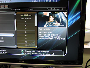 Photo: Ukazka prijmu DVB-T2 MUXu na k25 ze Zizkova primo na prodejne.