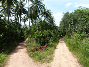 Photo: Ko Jum - road from Baan Ko Jum (east coast) to Andaman beach (west coast), follow signs to mosque/temple from village