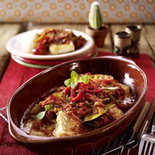 Veracruz Style Baked Fish.