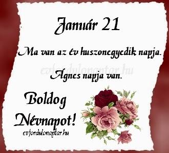 Január 21 - Ágnes névnap