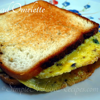 (Bread Omelet, Savory Bread Omelette)
