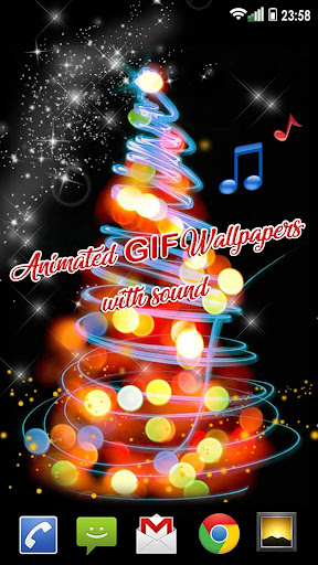 Christmas Songs Live Wallpaper with Music ud83cudfb6 2.8 screenshots 4