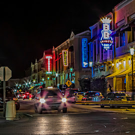 Neon Lights by Sandy Friedkin - City,  Street & Park  Night ( neon lights, city, street, night,  )