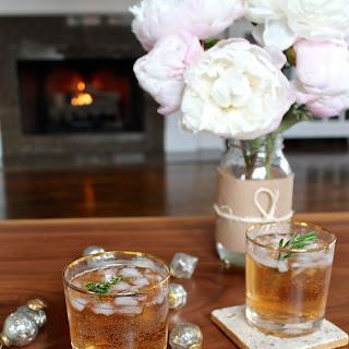 Sparkling Cranberry Ginger Cocktail.