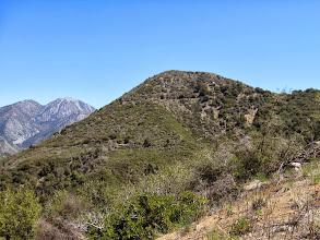 Photo: View east toward Sunset Peak. Thunder Mt (8587') and Telegraph Peak (8985') are on the far left.