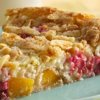 Impossibly Easy Peach and Raspberry Pie