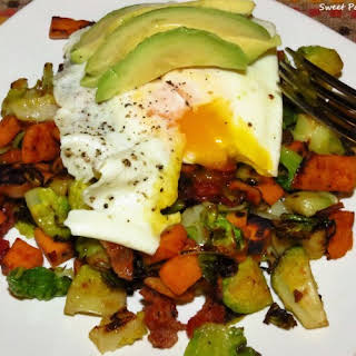 Sweet Potato Brussels Sprouts Hash.