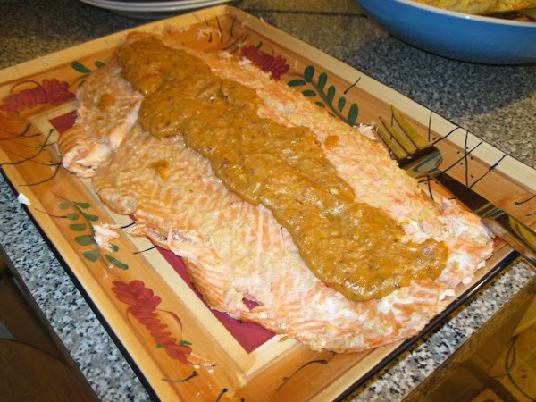 Salmon With Roasted Chile-mango Sauce Recipe