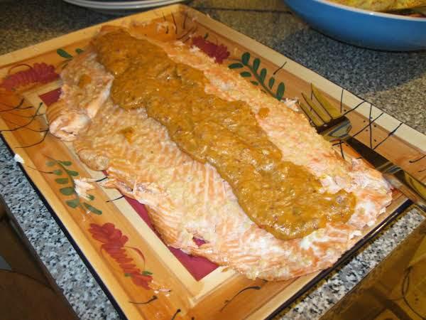 Salmon With Roasted Chile-mango Sauce