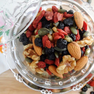 Super Food Trail Mix with Blueberry, Goji Berry, Nuts and Seeds.