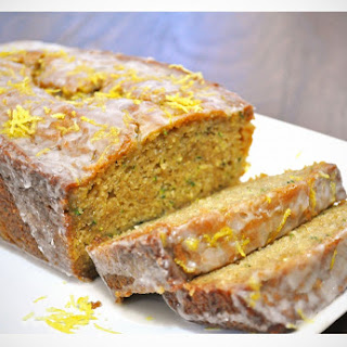 Ginger Zucchini Bread with Lemon Glaze