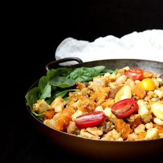 Curried Tempeh Quinoa Breakfast Hash.