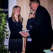 Photo: DGPuK 2014 Gala-Abend in der Innsteg-Aula  Preisverleihung: Bester Tagungsbeitrag: 2. Platz: Katrin Jungnickel (links)   Foto: Janertainment Janine Amberger