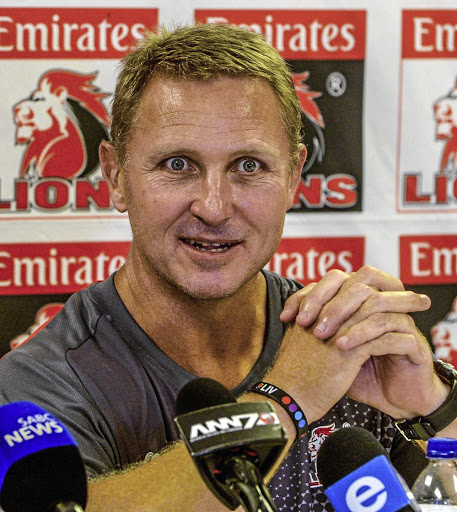 Lions Coach Johan Ackermann during the Emirates Lions press conference. Picture: GALLO IMAGES/SYDNEY SESHIBEDI