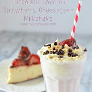 Chocolate Covered Strawberry Cheesecake Milkshake